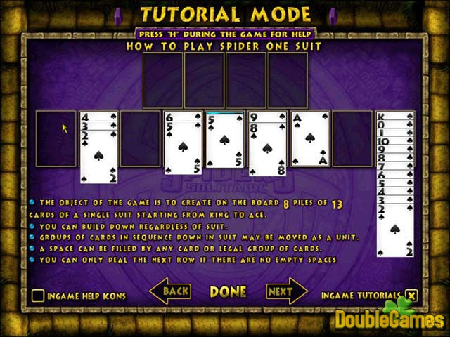 Free Download Ancient Spider Solitaire Screenshot 3
