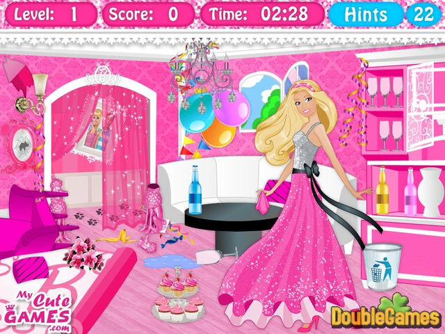 Free Download Barbie Dreamhouse Cleanup Screenshot 1