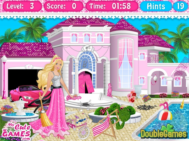 Free Download Barbie Dreamhouse Cleanup Screenshot 3
