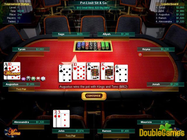 Free Download Big Fish Games Texas Hold'Em Screenshot 1