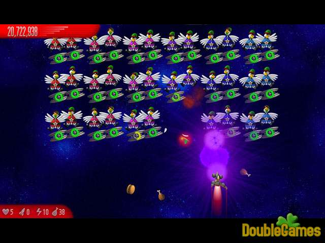 Free Download Chicken Invaders 5: Christmas Edition Screenshot 2