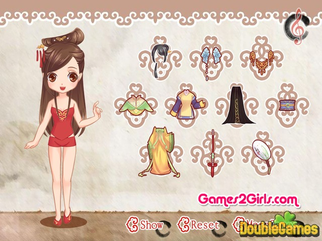 Free Download Chinese Doll Dress Up Screenshot 1