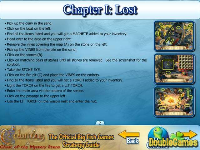 Free Download Columbus: Ghost of the Mystery Stone Strategy Guide Screenshot 1