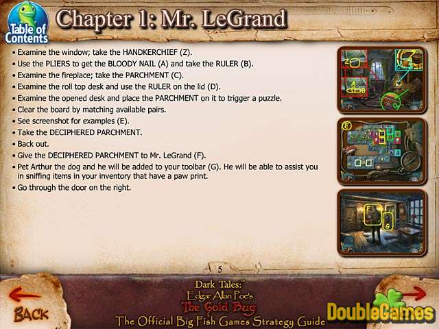 Free Download Dark Tales: Edgar Allan Poe's The Gold Bug Strategy Guide Screenshot 1