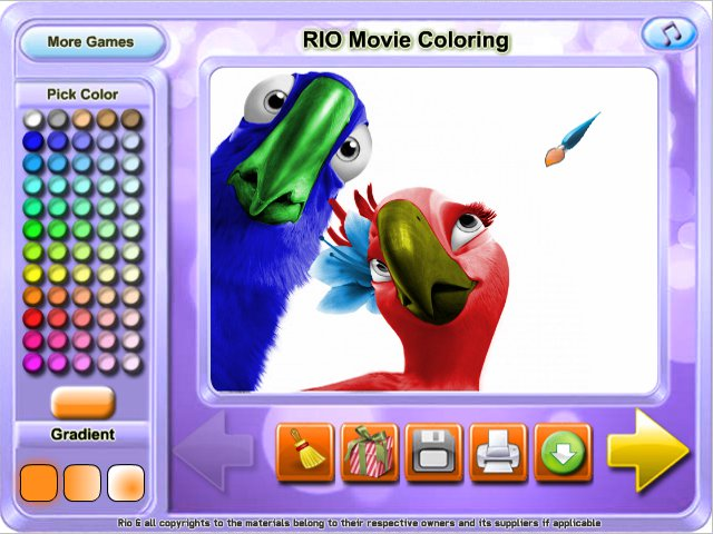 Free Download RIO Movie Coloring Screenshot 1