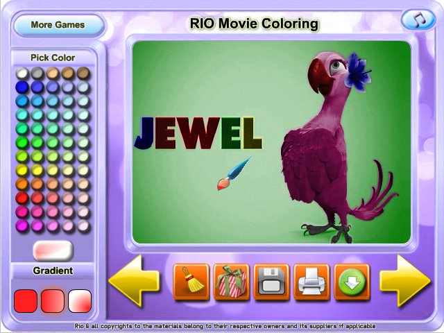 Free Download RIO Movie Coloring Screenshot 2