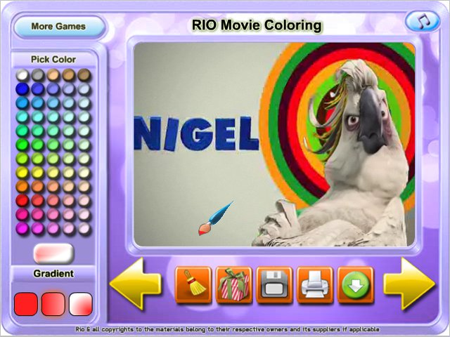 Free Download RIO Movie Coloring Screenshot 3