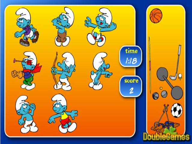 Free Download The Smurfs Sport Pairs Screenshot 1