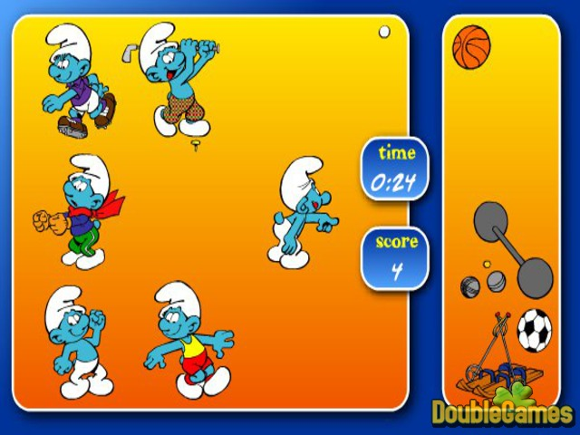 Free Download The Smurfs Sport Pairs Screenshot 2